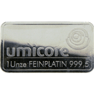 Umicore 1 Ounce Platinum Bar 999.5
