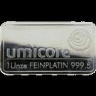 Umicore 1 Ounce Platinum Bar 999.5