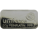 Umicore 20 Gram Platinum Bar