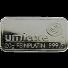 Umicore 20 Gram Platinum Bar