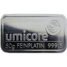 Umicore 50 Gram Platinum Bar 999.5