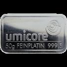 Umicore 50 Gram Platinum Bar 999.5