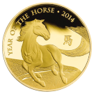 2014 1oz Gold Year Of The Horse