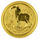 2015 1/10oz Gold Lunar Goat Coin - Perth Mint (Australia)