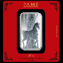 PAMP 100 Gram Lunar Horse Silver Bar Certicard