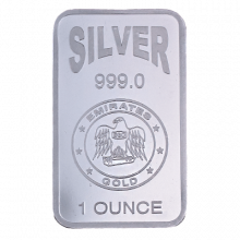 1oz Silver Bar Emirates Gold