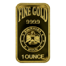 1oz Gold Bar Blister Pack Emirates Gold