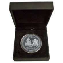 20 Gram Silver Round MMTC-PAMP Goddess Lakshmi & Lord Ganesh in Presentation Box