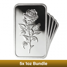 5 x 1oz Silver Bar Bundle - Emirates Gold - CLEARANCE