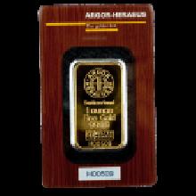 1oz Gold Bar Argor Heraeus Certicard
