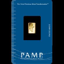 1g Gold Bar PAMP Rosa Certicard