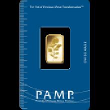 2.5g Gold Bar PAMP Rosa Certicard