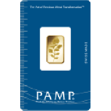 2.5 Gram Gold Bar PAMP Rosa Certicard