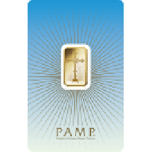 5 Gram Gold Bar PAMP Cross - Faith Series