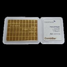 50 x 1 Gram Gold Bar Credit Suisse Combi Bar
