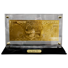 Gold Plated 1000 Indian Rupee Note