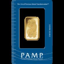 1/2oz Fortuna Gold Bar | Certicard | PAMP Suisse | Investment Market