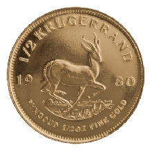 1/2oz Gold Krugerrand Mixed Years | South African Mint