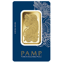 100 Gram Gold Bar PAMP Fortuna Veriscan