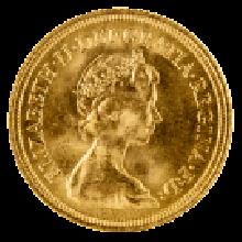 1974-1984 Gold Full Sovereign (Elizabeth II, Decimal Portrait)