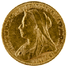 1893-1901 Gold Full Sovereign (Victoria, Old Head)
