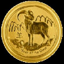 2015 1/4oz Gold Lunar Goat - Perth Mint (Australia)