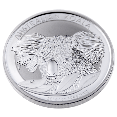 Reverse Silver Koala Bullion Coin from the Perth mint