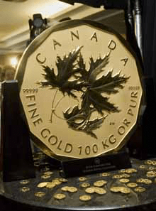 100kg Fine Gold Maple Coin