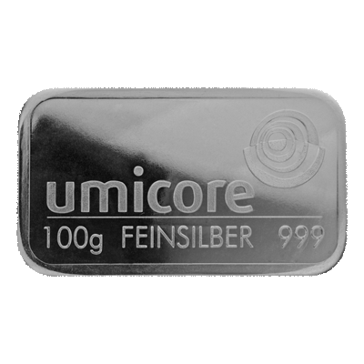 Umicore 100g Fine Minted Silver