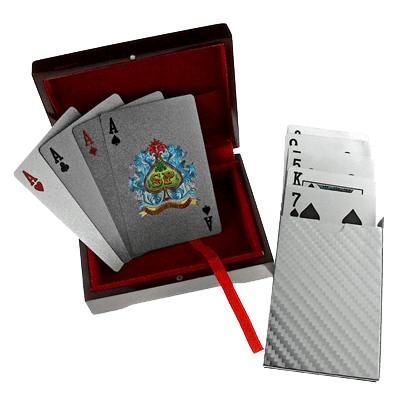 Silver-leaf plated Playing Cards, an ideal Gift