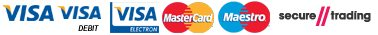 Pay with Visa or Mastercard via SecureTrading