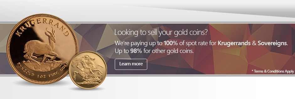 Sell your gold coins with UKBullion.com for most competitive prices. Krugerrand, Sovereign and Britannia gold coins at up to 100% of market metal price.